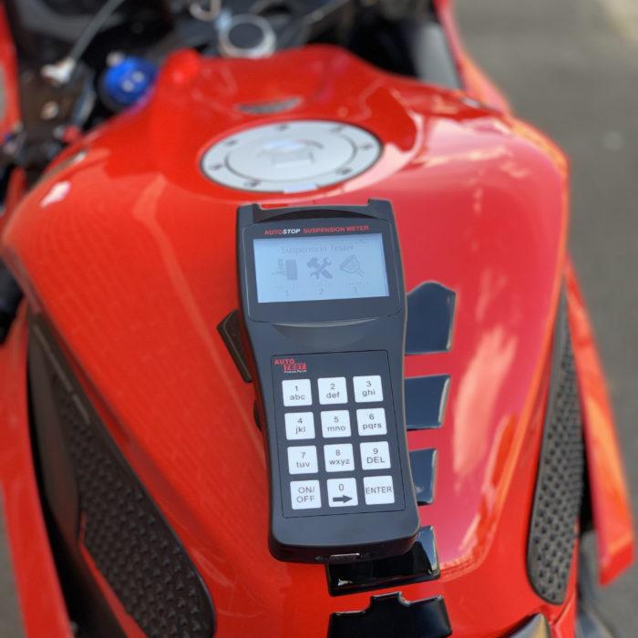 suspension testing suspension meter motorbike automotive
