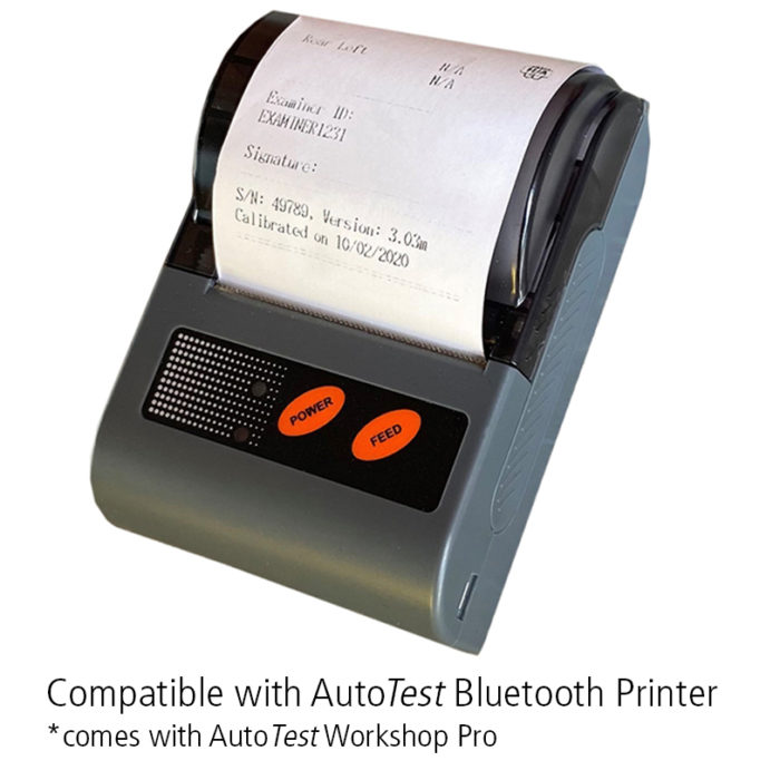 brake meter brake tester bluetooth printer compatible
